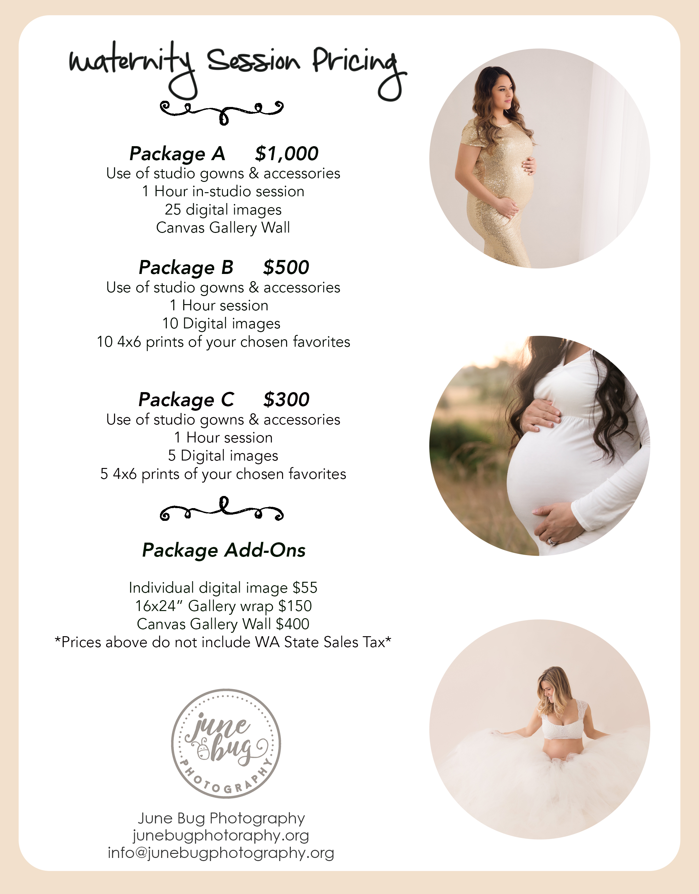 Maternity Photo Prices