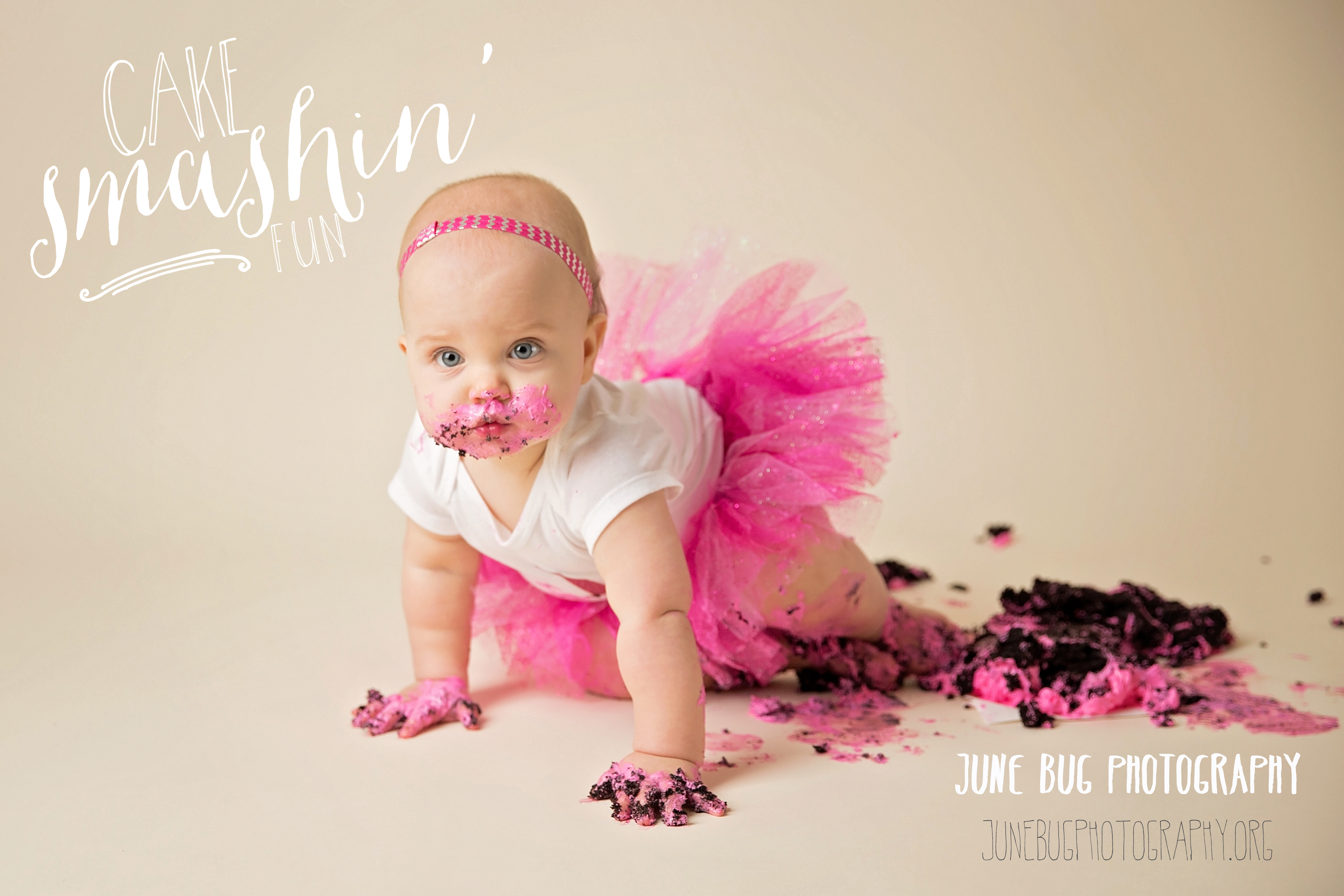 Babys First Birthday Cake Smash Snohomish County Photographer June