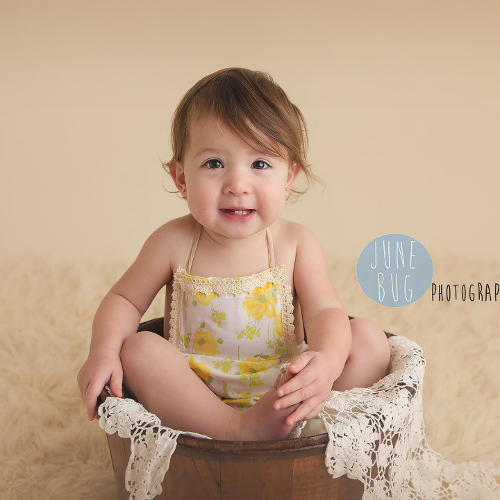 Vintage themed studio session. Snohomish family photographer June Bug Photography.